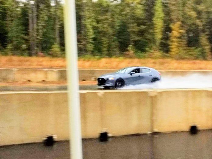 2020 Mazda3 AWD racetrack