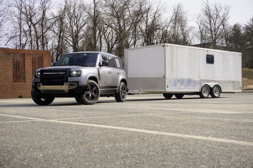 2020 Land Rover Defender enclosed trailer