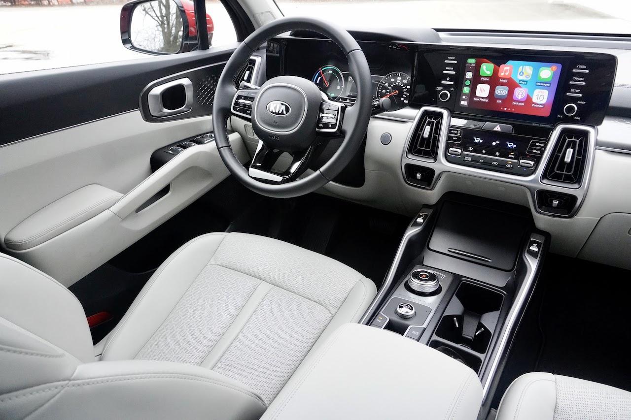 2021 Kia Sorento Hybrid EX gray interior