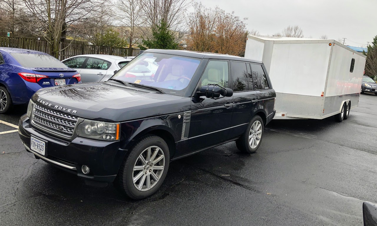 L322 Range Rover enclosed trailer