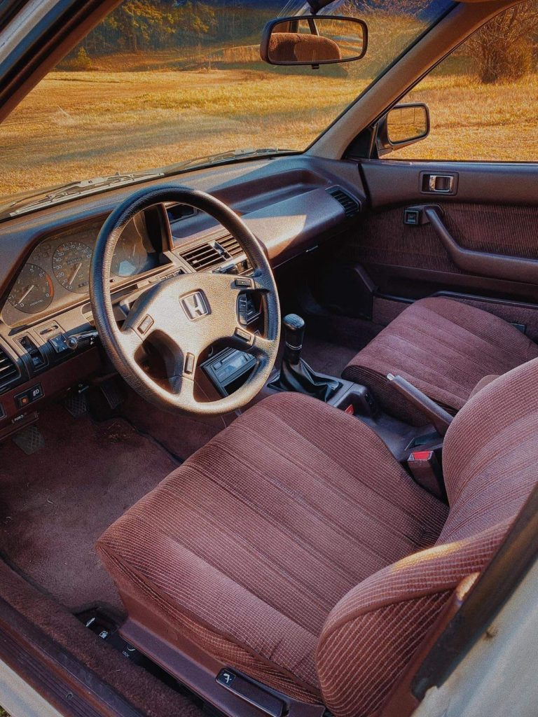 1989 Honda Accord interior