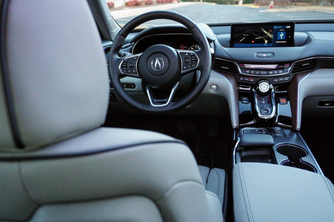2021 Acura TLX gray interior