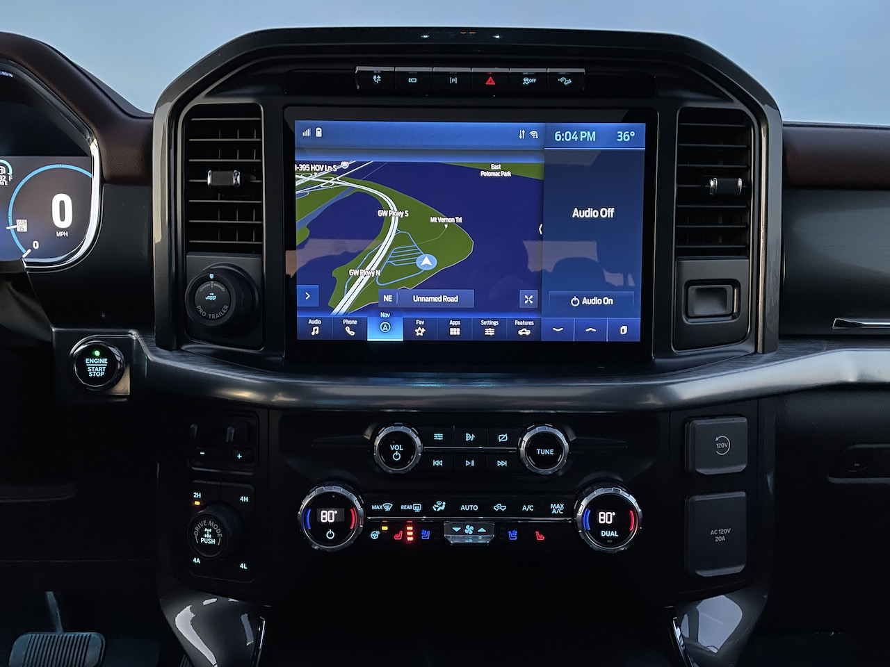 """2021 Ford F-150 PowerBoost Sync4 12"""" touchscreen"""