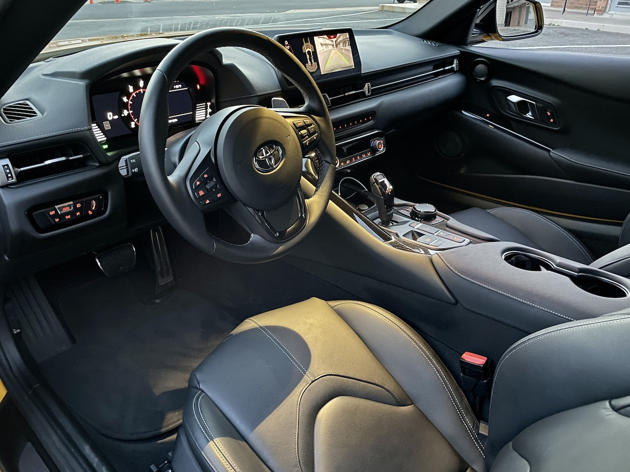 2021 Toyota Supra black interior