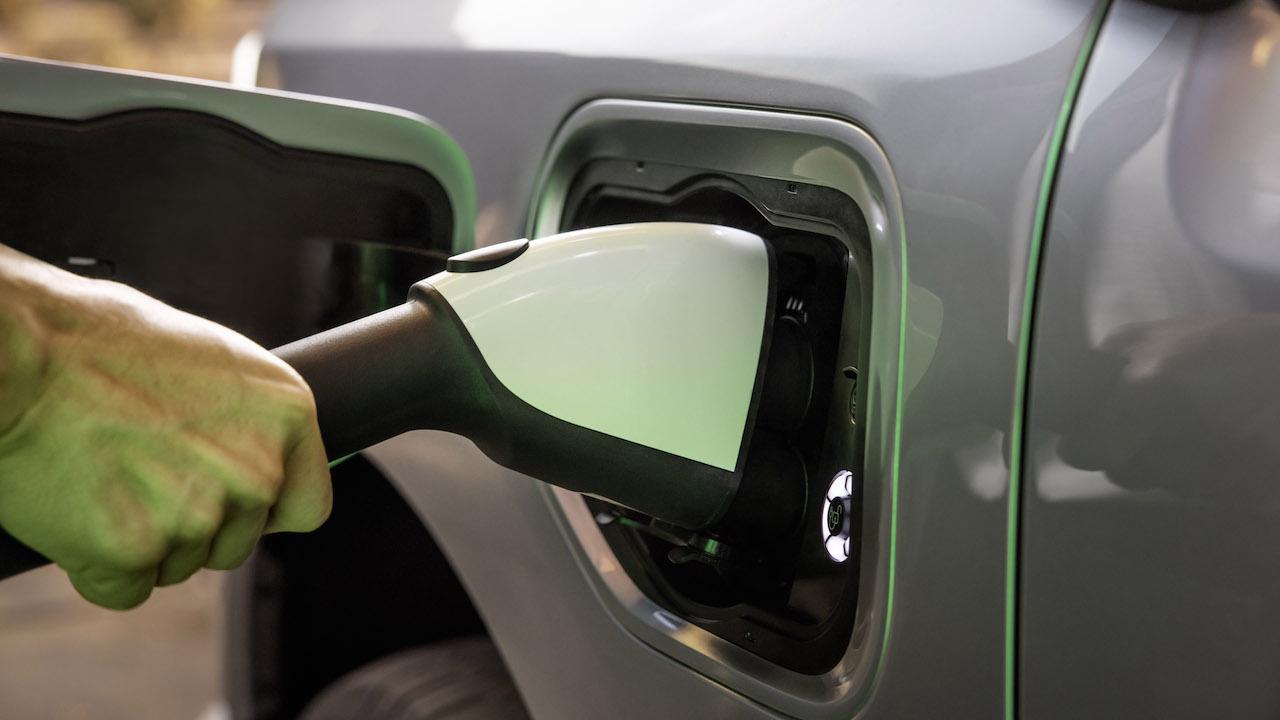 2021 Ford F-150 Lightning EV charge port