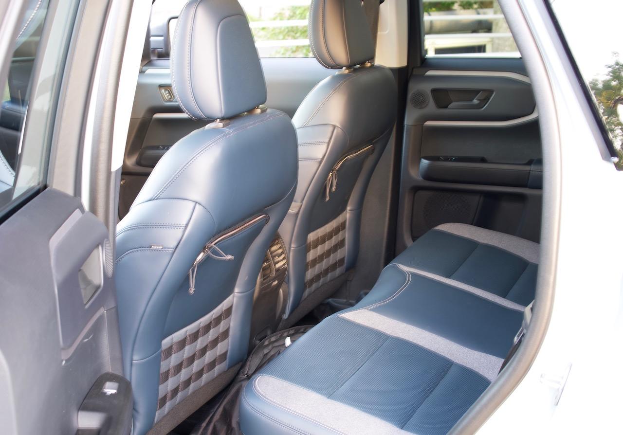 2021 Ford Bronco Sport navy pier backseat