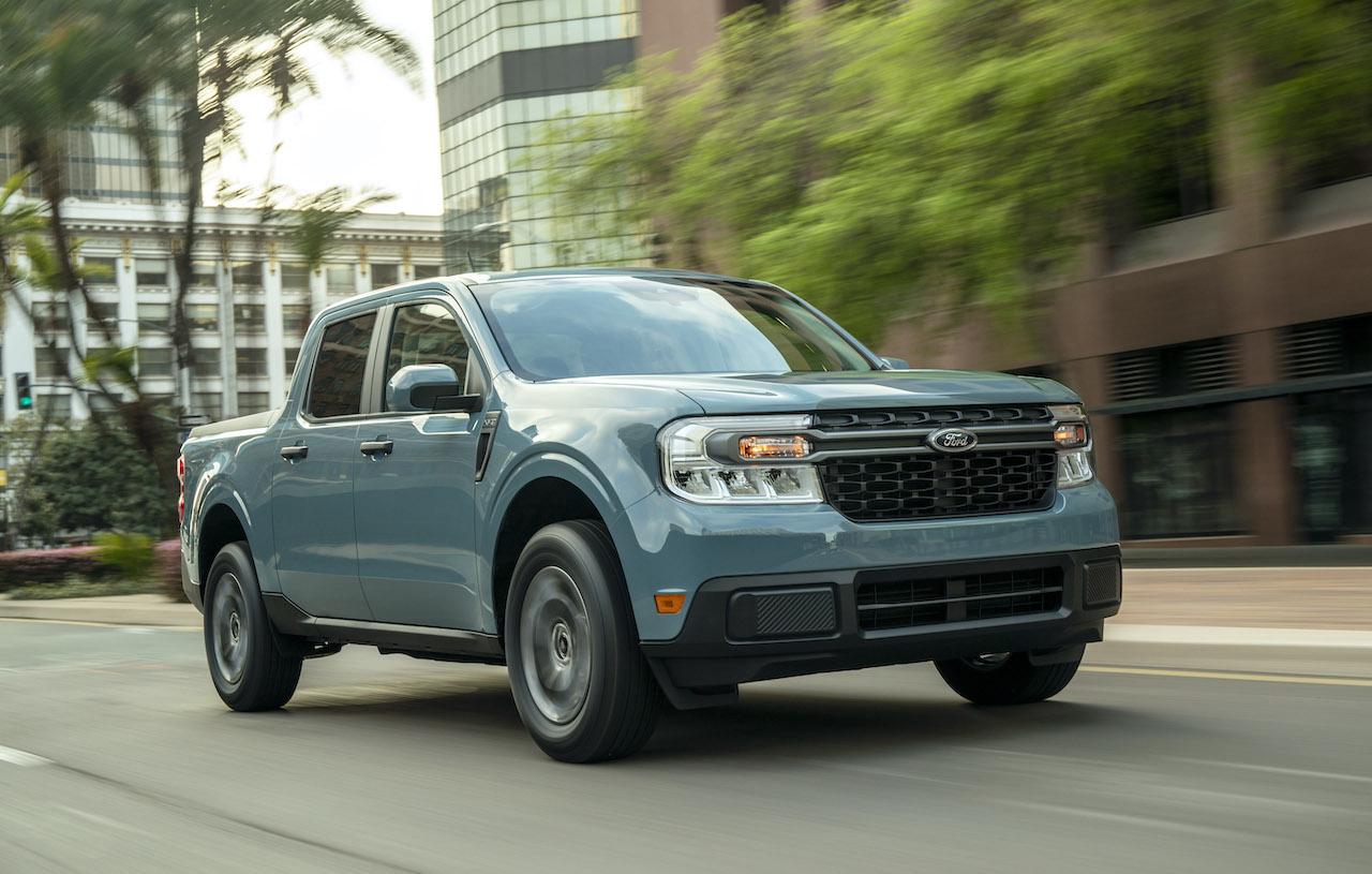 2022 Ford Maverick hybrid blue