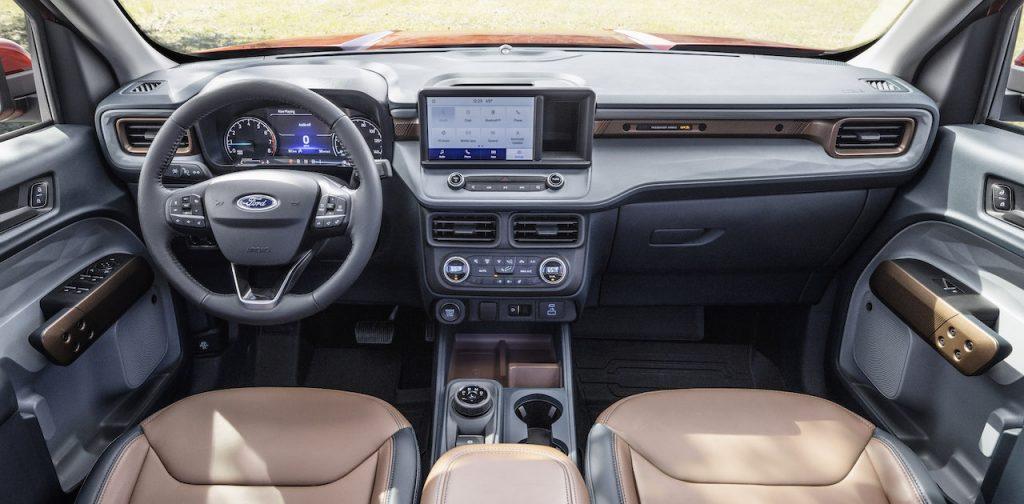 2022 Ford Maverick Lariat brown interior