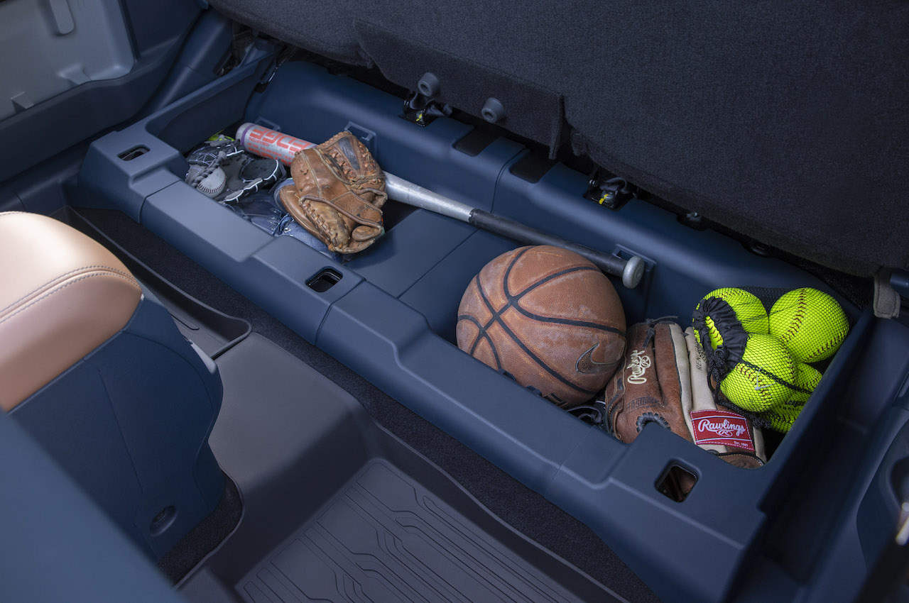 2022 ford maverick under backseat storage