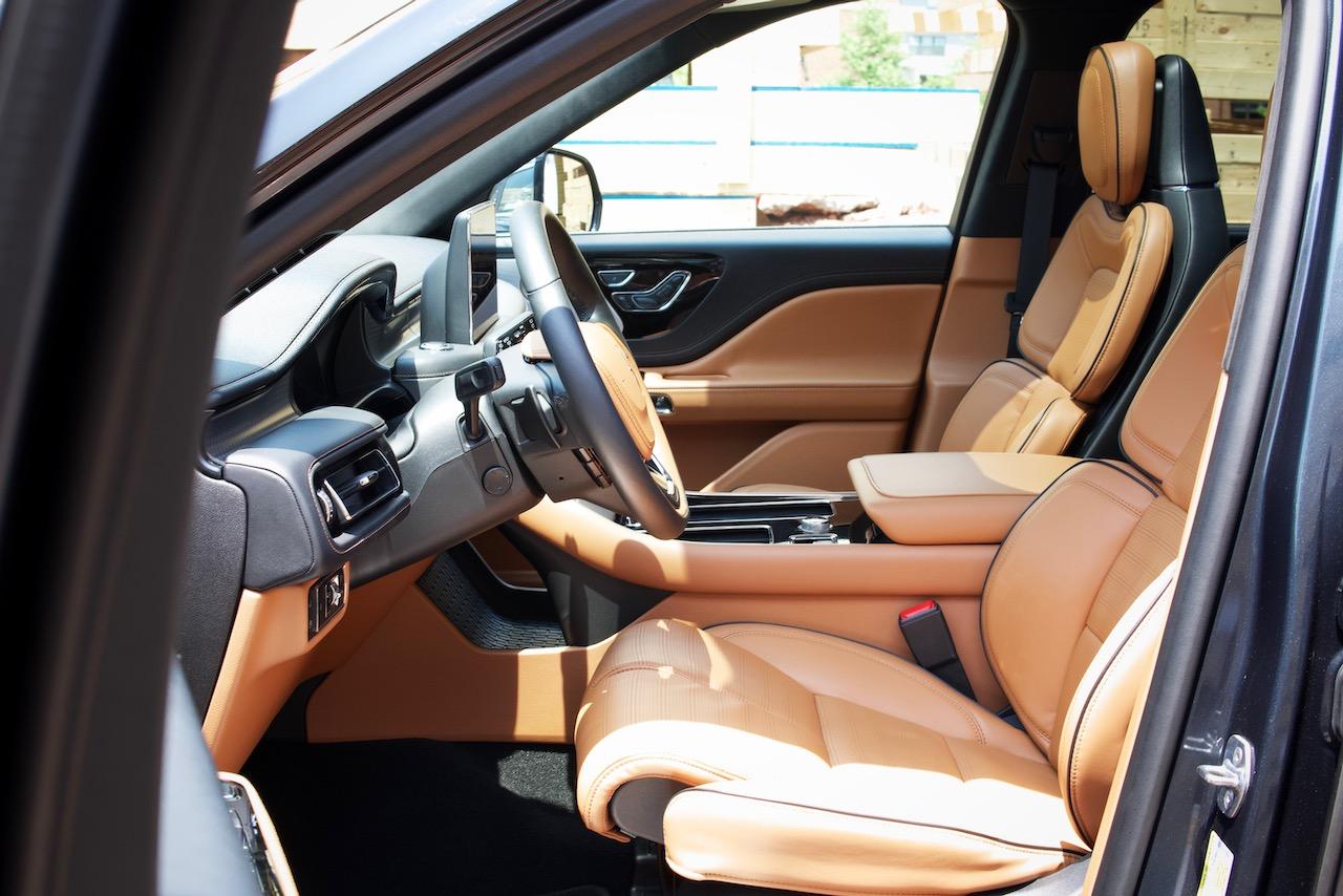 2021 Lincoln Aviator brown interior
