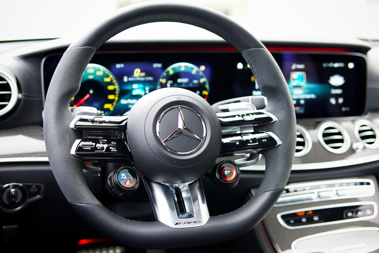 2021 Mercedes-AMG E63 S steering wheel