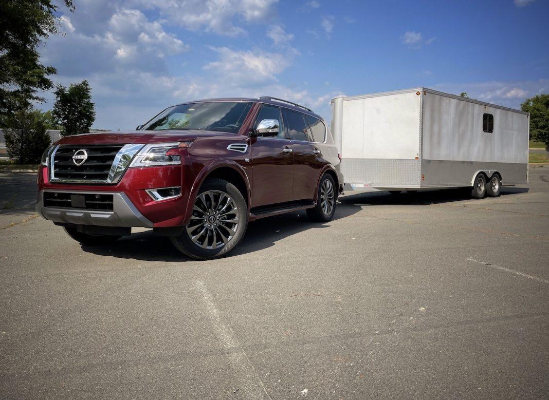 2021 Nissan Armada enclosed trailer