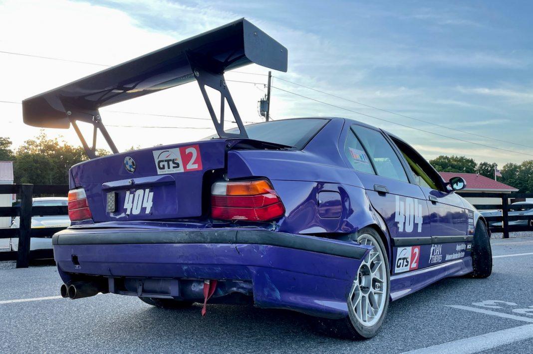 BMW E36 M3 racecar crashed