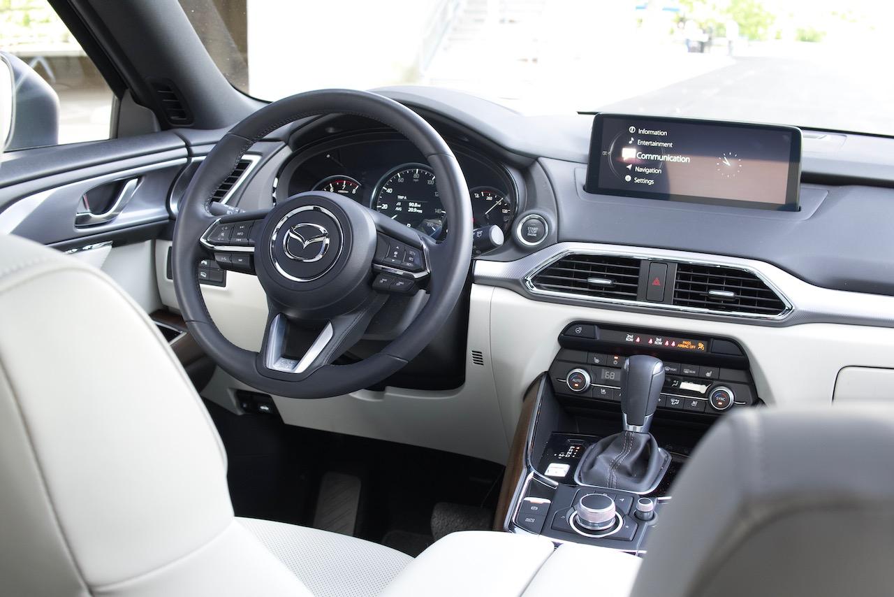 2021 Mazda CX-9 Signature white interior
