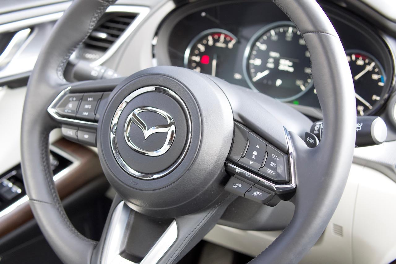 2021 Mazda CX-9 Signature steering wheel