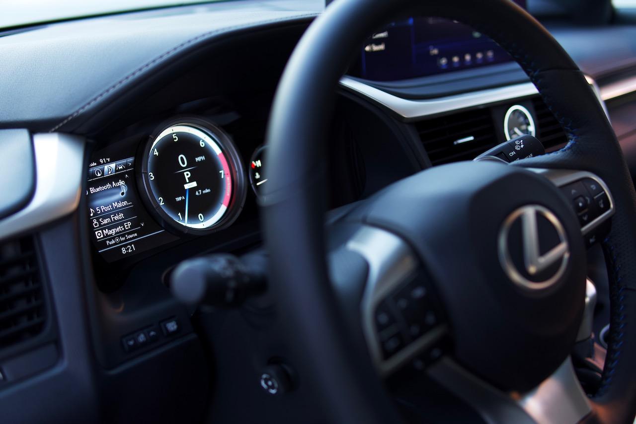2021 Lexus RX 350 F-Sport Black Line gauge cluster