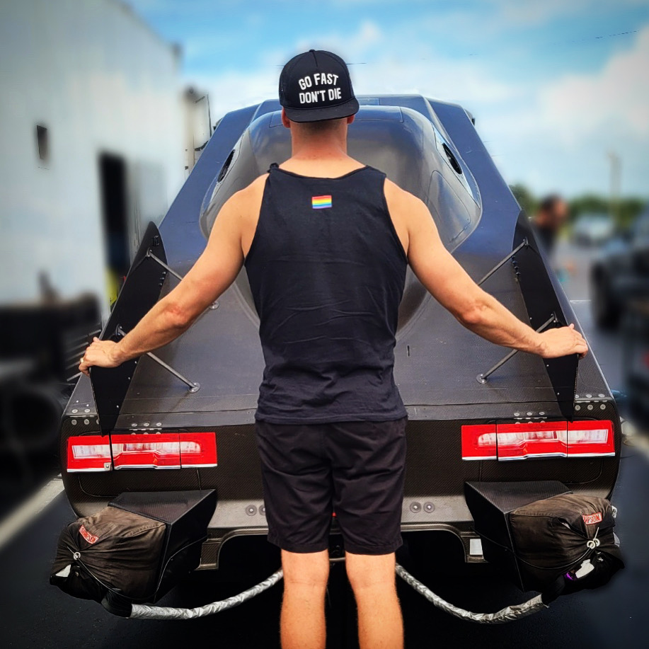 Travis Shumake with Funny Car