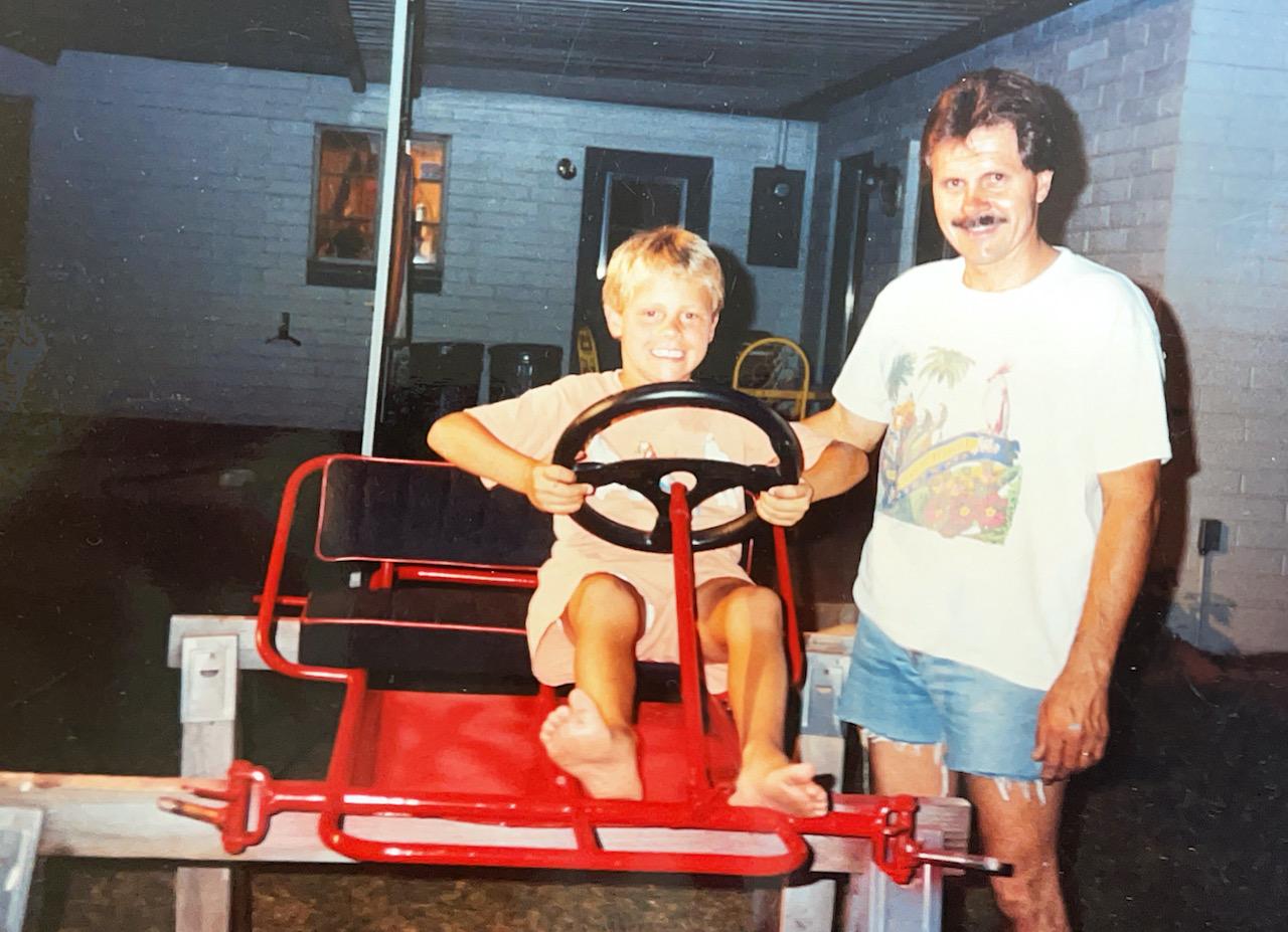Tripp Shumake and young Travis Shumake