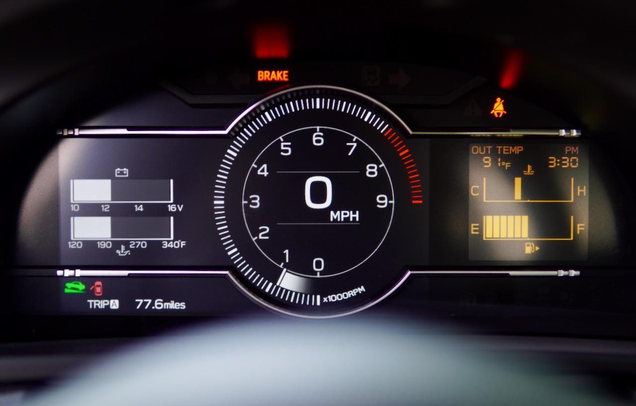2022 Subaru BRZ gauges