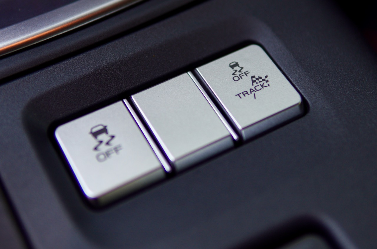 2022 Subaru BRZ traction control buttons