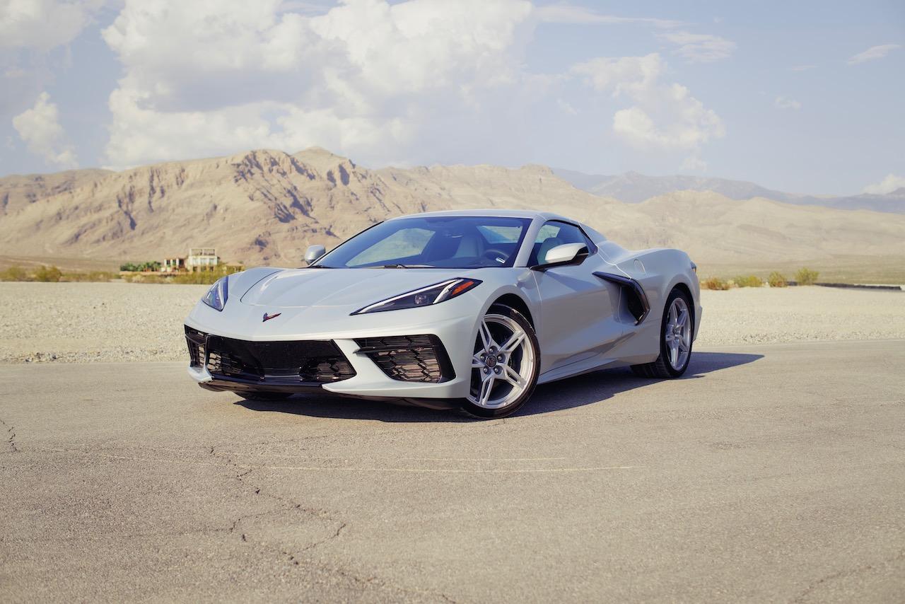 C8 Corvette Convertible silver