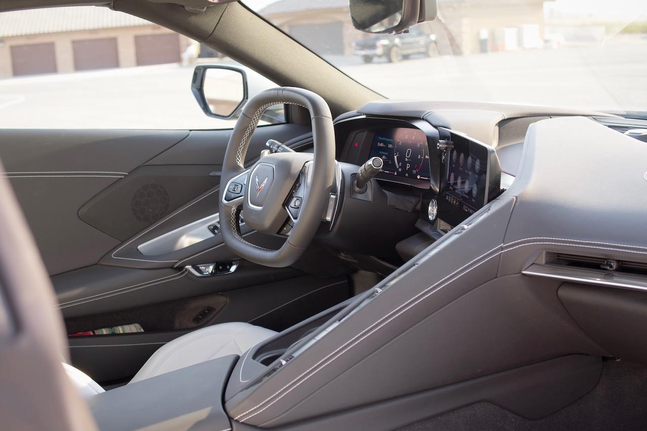 C8 Corvette convertible interior