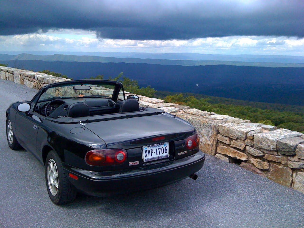 1995 Mazda Miata Blue Ridge Parkway